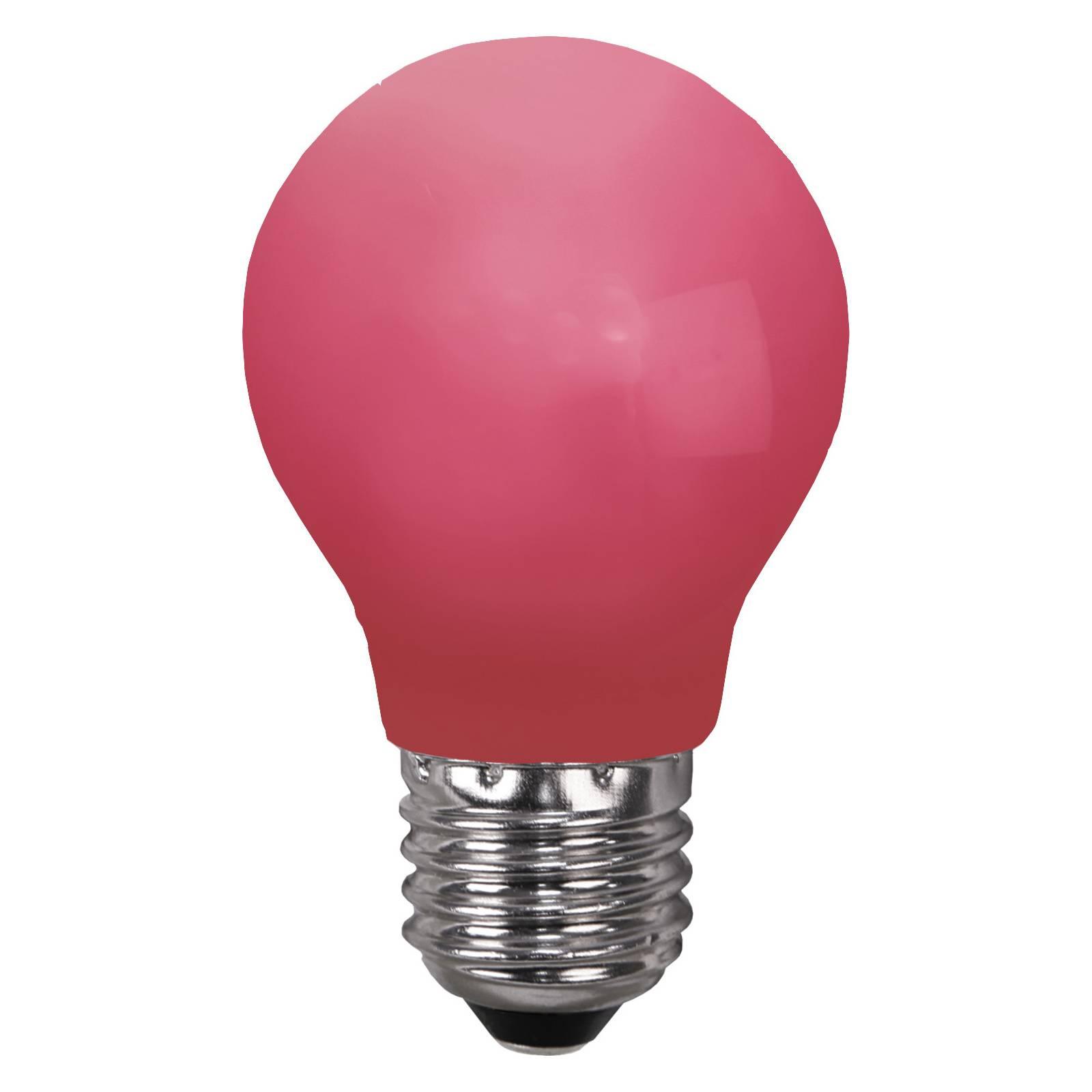 LED-lamppu E27 valoketjuihin, murtumaton, punainen