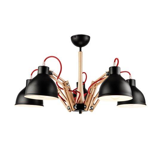 Taklampe Skansen 5 lyskilder justerbar svart