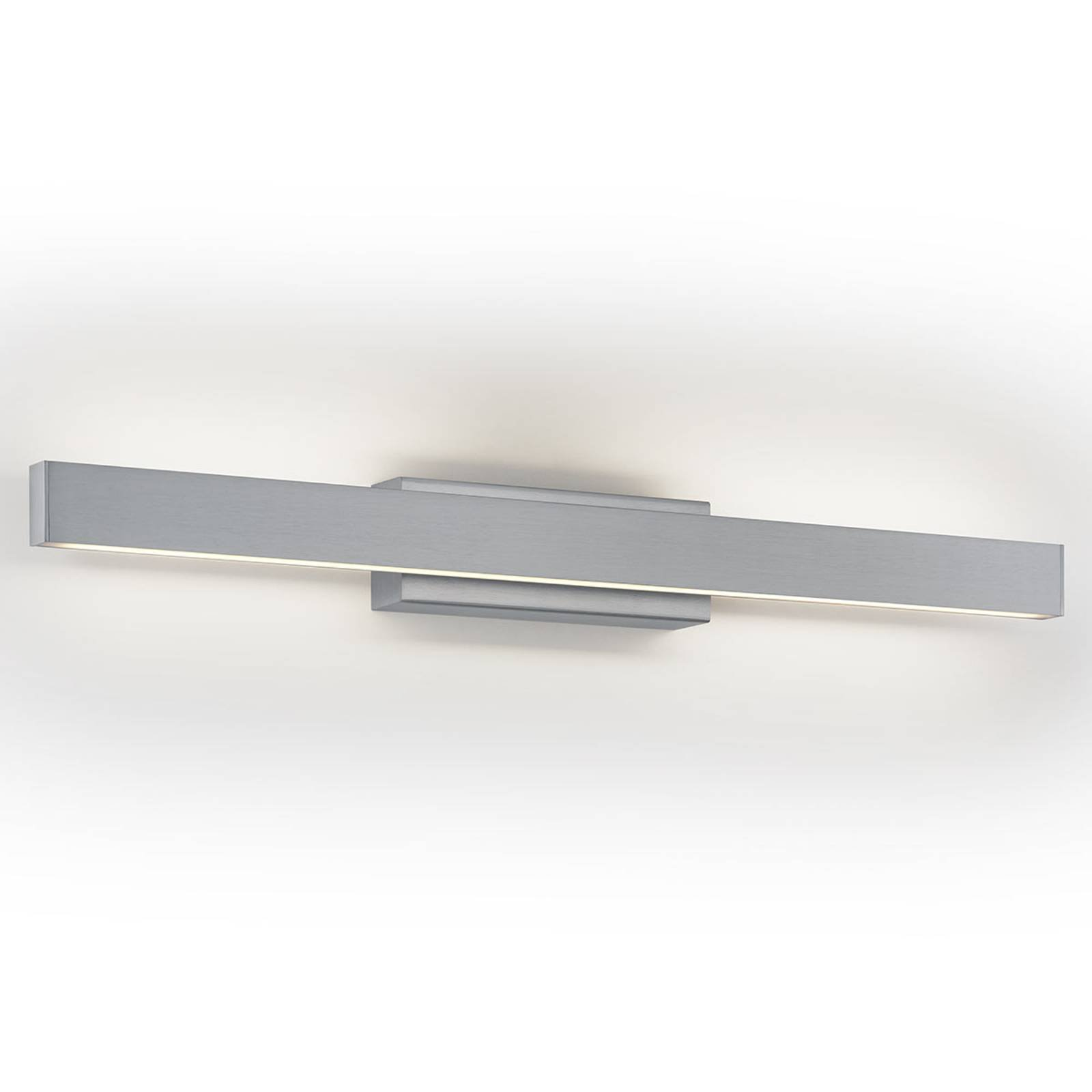 LED-vegglampe Pia, dimbar, matt nikkel