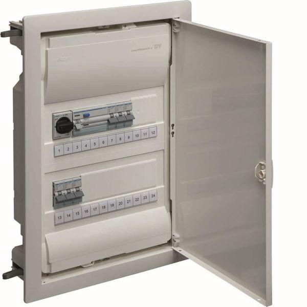 Hager VU24NF Kytkentäkaappi Tyyppi: Volta, IP30 2 x 12 moduulia