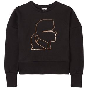 Karl Lagerfeld Kids Logo Print Tröja Svart 4 år
