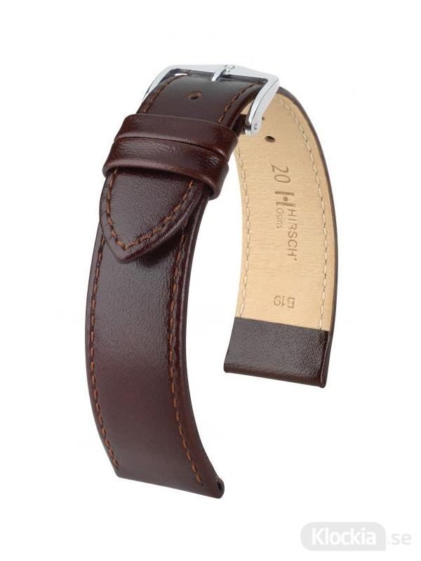 Hirsch Osiris 18mm Large Brun/Silver 03475010-2-18