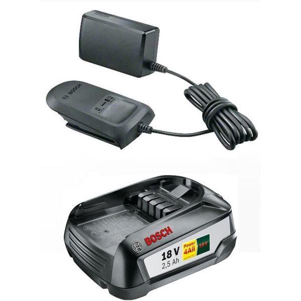 Bosch DIY AL 1810 CV + 2,5Ah Ladepakke 2,5 Ah-batteri og lader