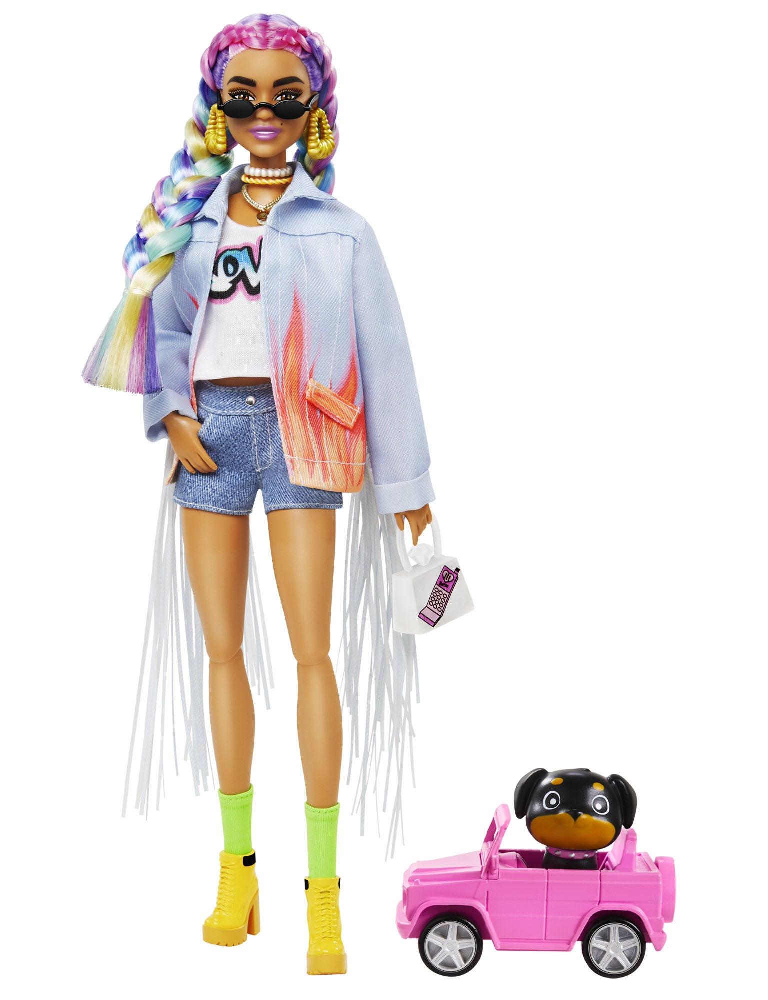 Barbie Extra Doll Rainbow Braids Docka