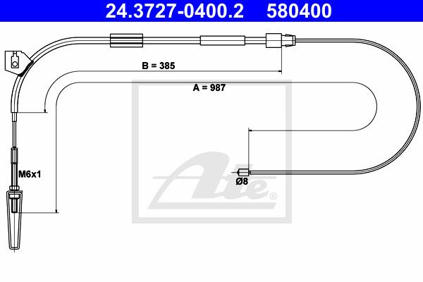 Käsijarruvaijeri ATE 24.3727-0400.2