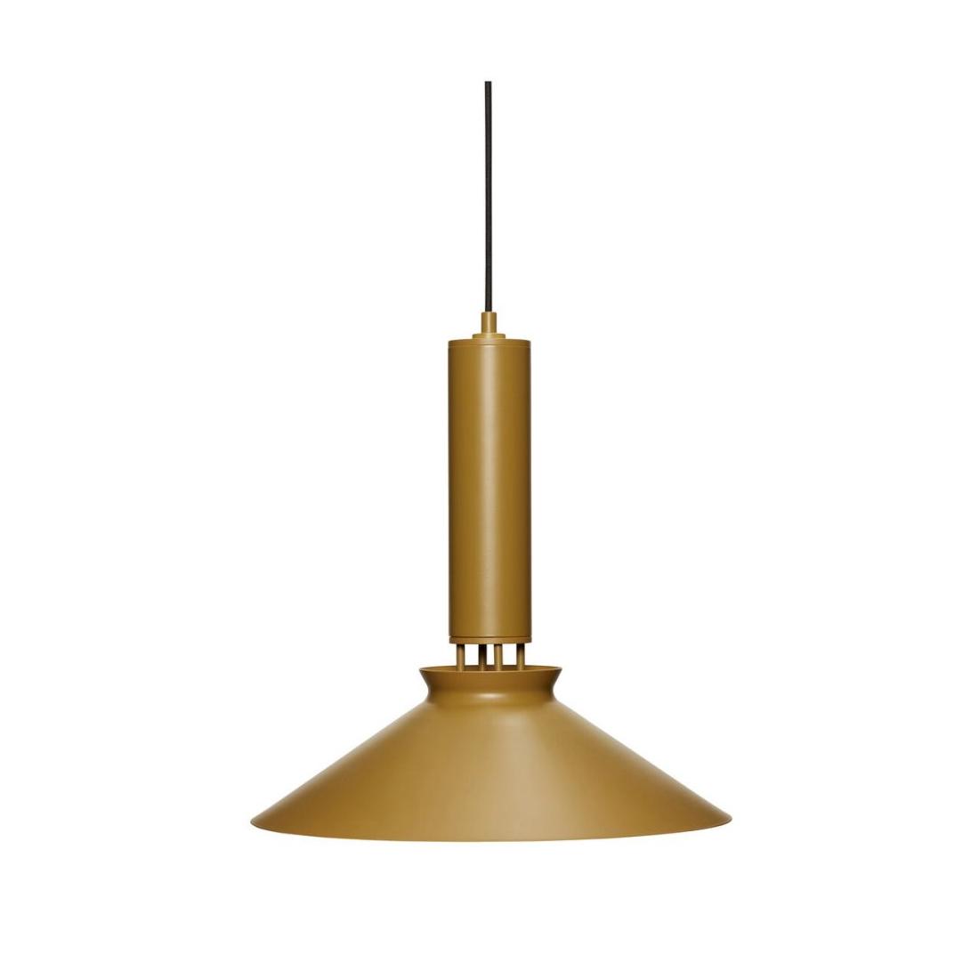 Taklampa brun metall Hubsch