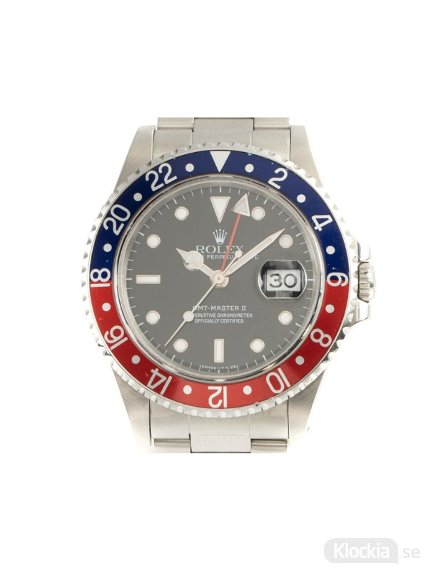 Begagnad Rolex GMT Master II Pepsi Oyster Perpetual 40 16710