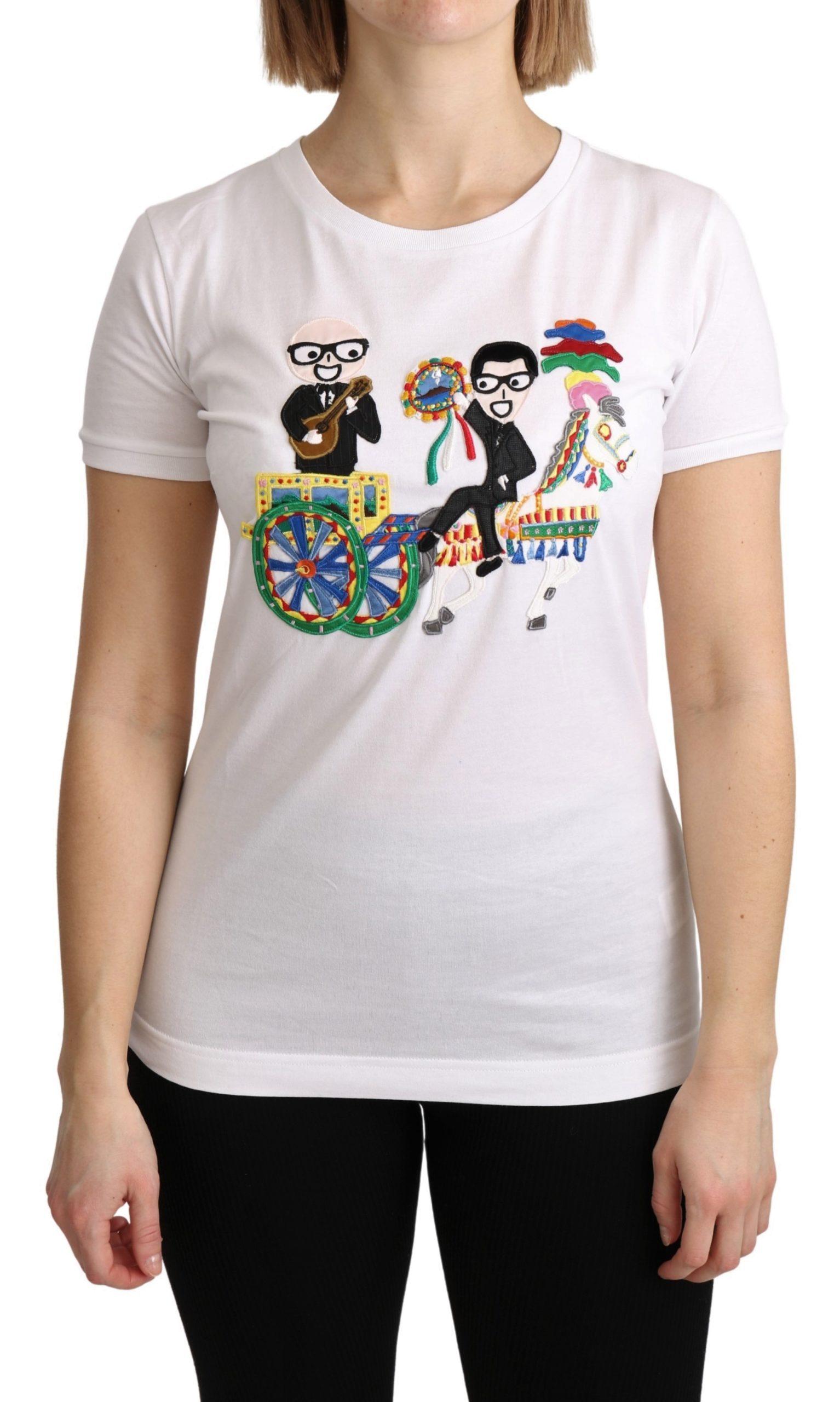 Dolce & Gabbana Women's Logo T-Shirt White TSH4894 - IT38|XS
