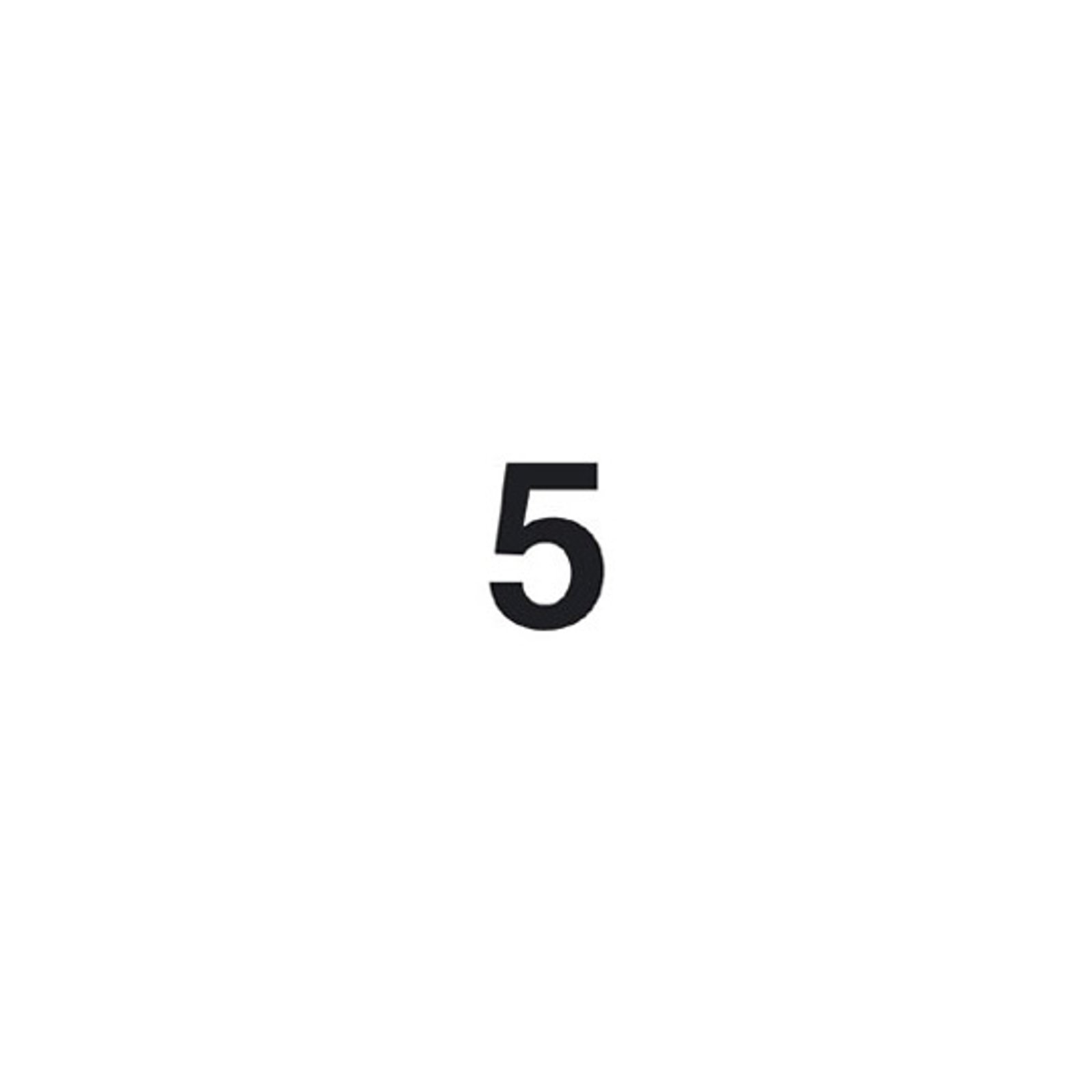 Selvklebende tallet 5