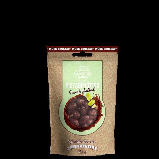 Pistagenötter i mörkchoklad, 75 g