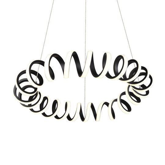 LED-pendellampe Curl, SwitchDim, svart