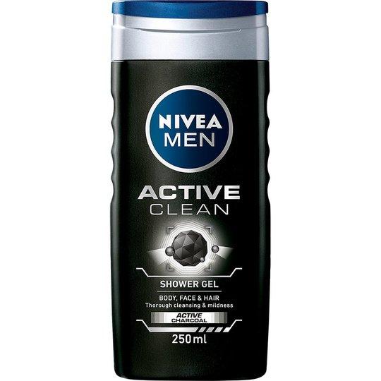 MEN Active Clean, 250 ml Nivea Kylpy & Suihku
