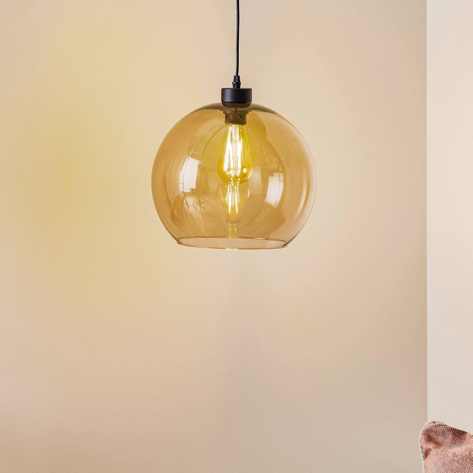 Riippuvalaisin Cubus, 1-lamppuinen, ruskea