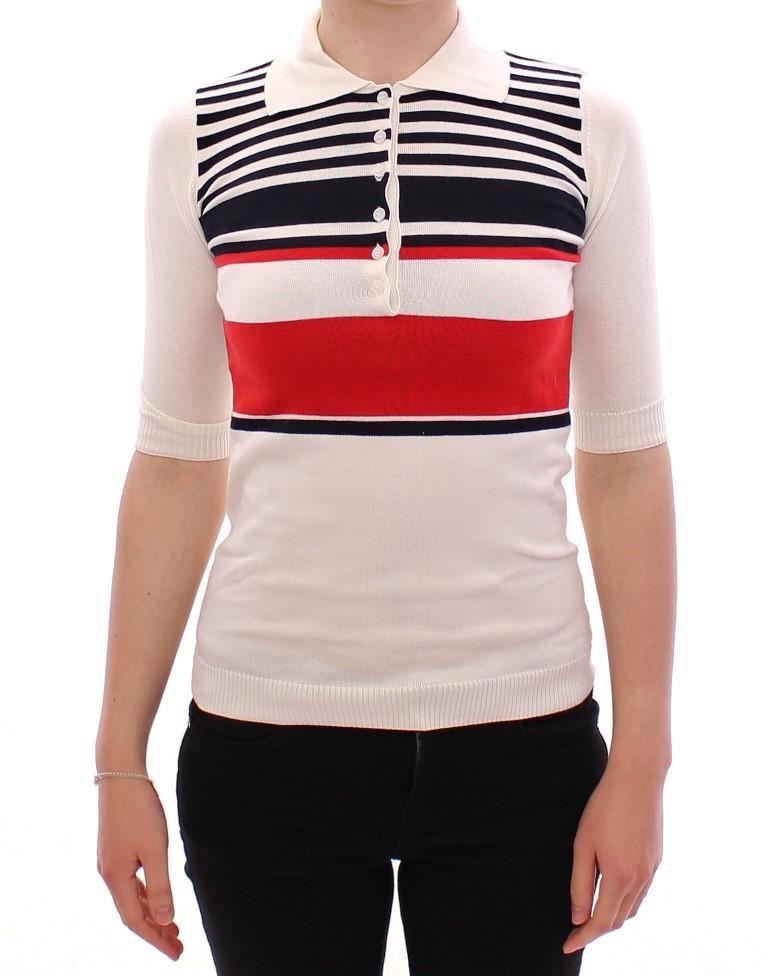 Dolce & Gabbana Women's SS Cotton Polo T-Shirt White MOM11145 - XS