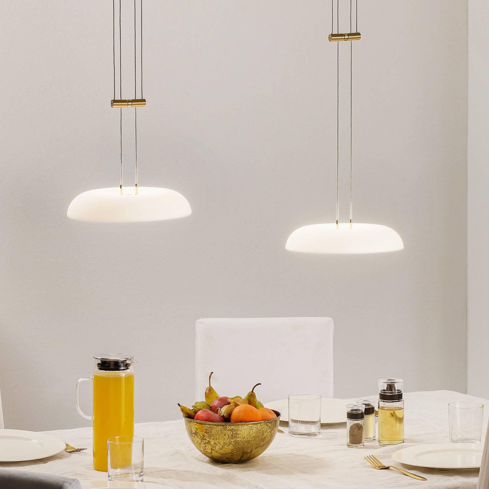 BANKAMP Vanity riippuvalaisin 2-lamp., messinki