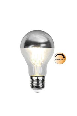 Lyspære LED 352-94 Toppforspeilet Silver Dimbar E27