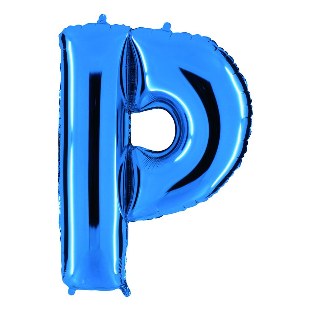 Bokstavsballong Blå Metallic - Bokstav P