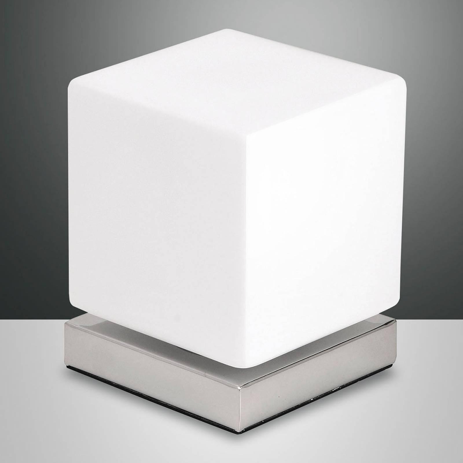 Kosketushimmennin LED-pöytälamppu Brenta kromi