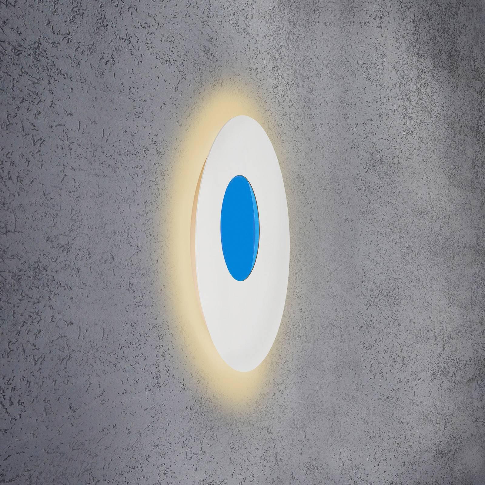 Escale Blade Open LED-vegglampe RGB+W, hvit, Ø59cm
