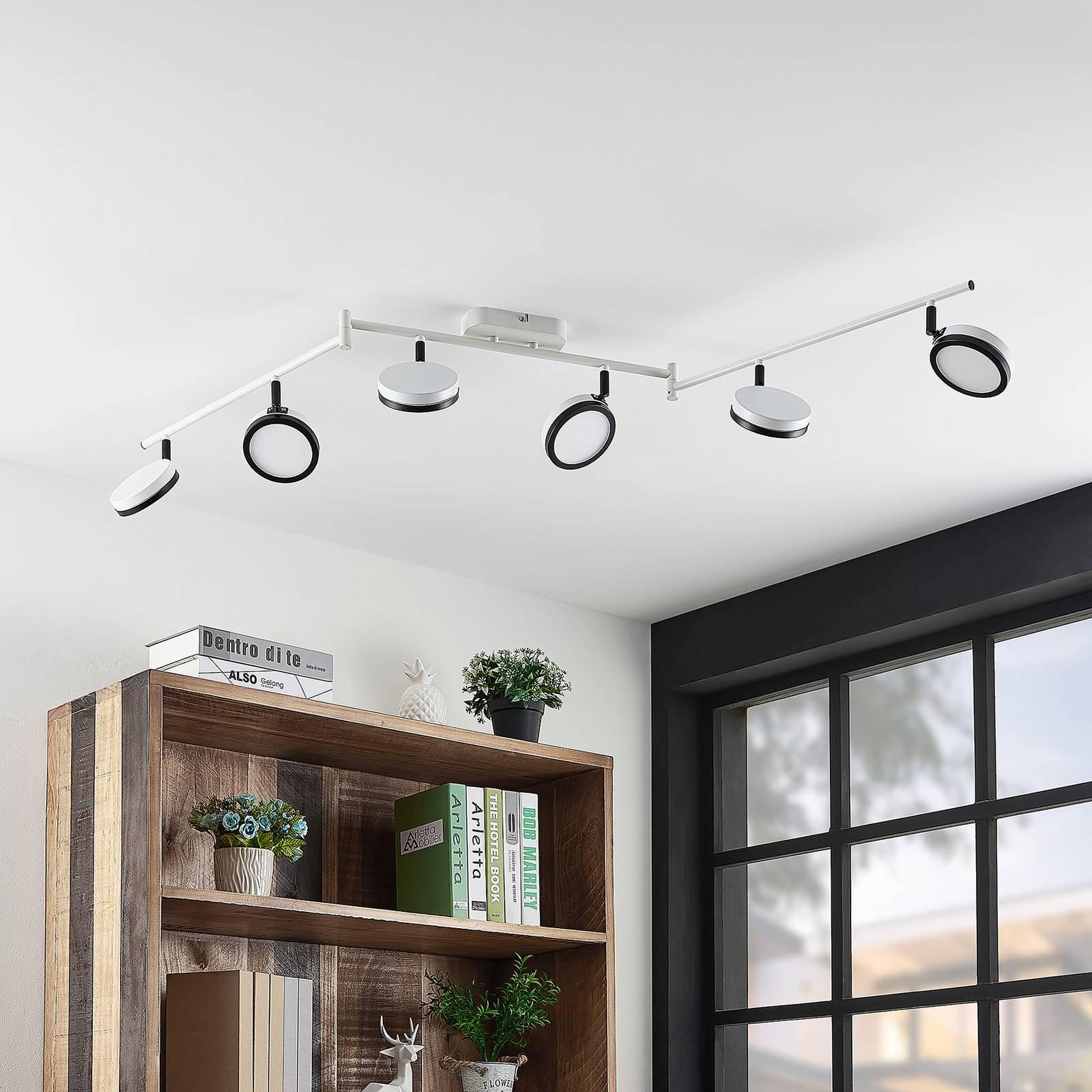 Lindby Vesim -LED-kohdevalaisin, 6-lamppuinen