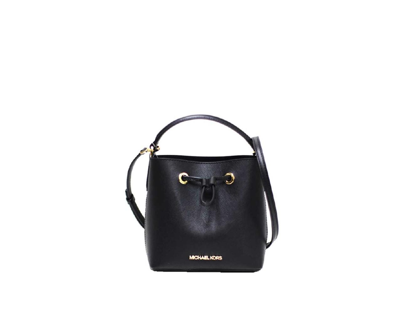 Michael Kors Women's Suri Small Bucket Crossbody Bag Black MK30368