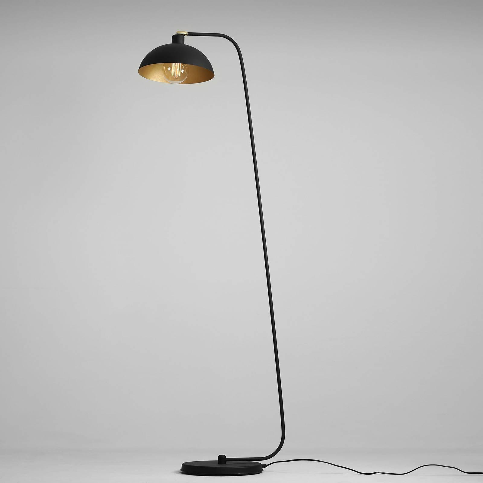 1036 gulvlampe, 1 lyskilde, svart-gull