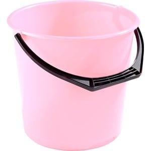 Hink plast transparent rosa, 10 l