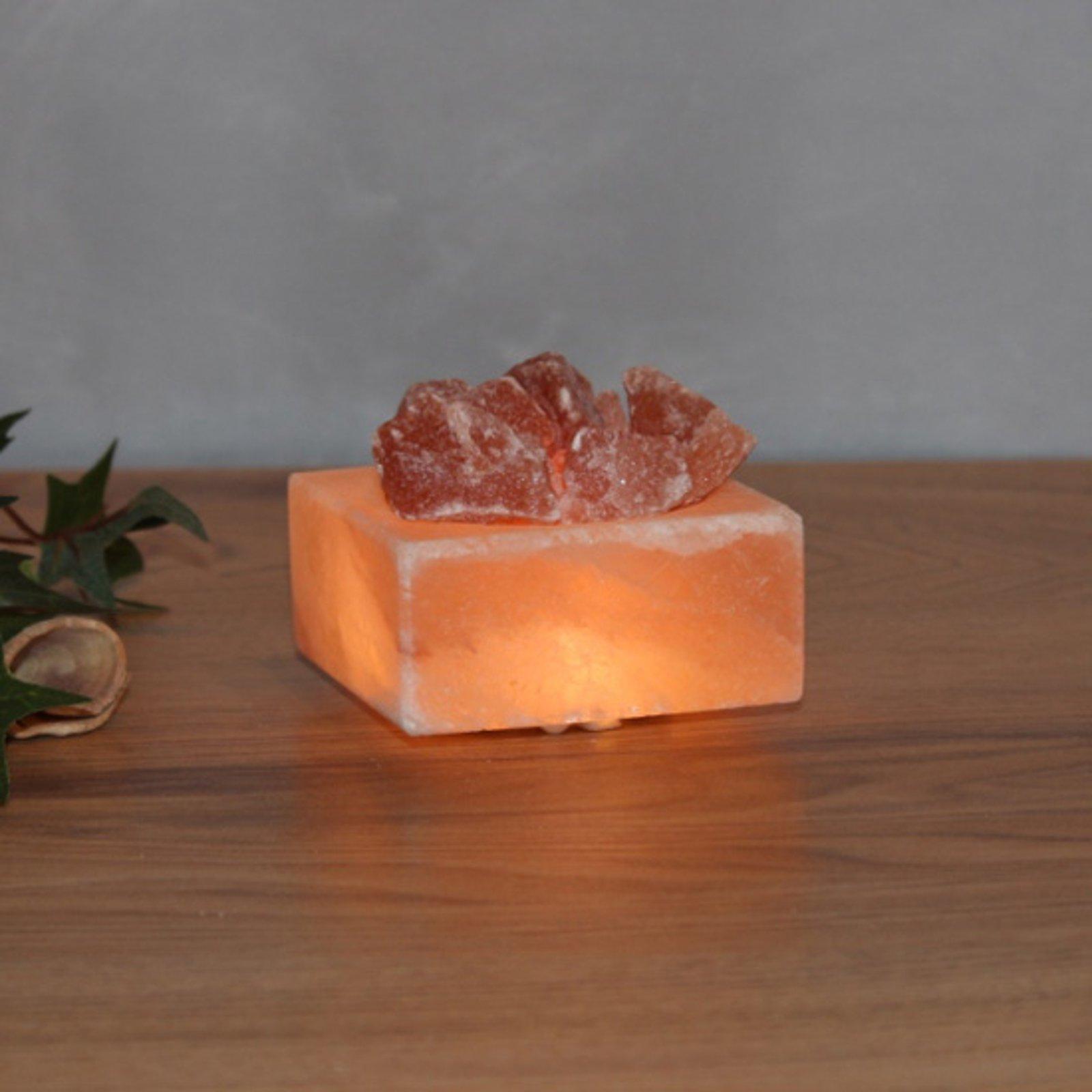 Petite Kubus - belyst saltkrystallskål LED