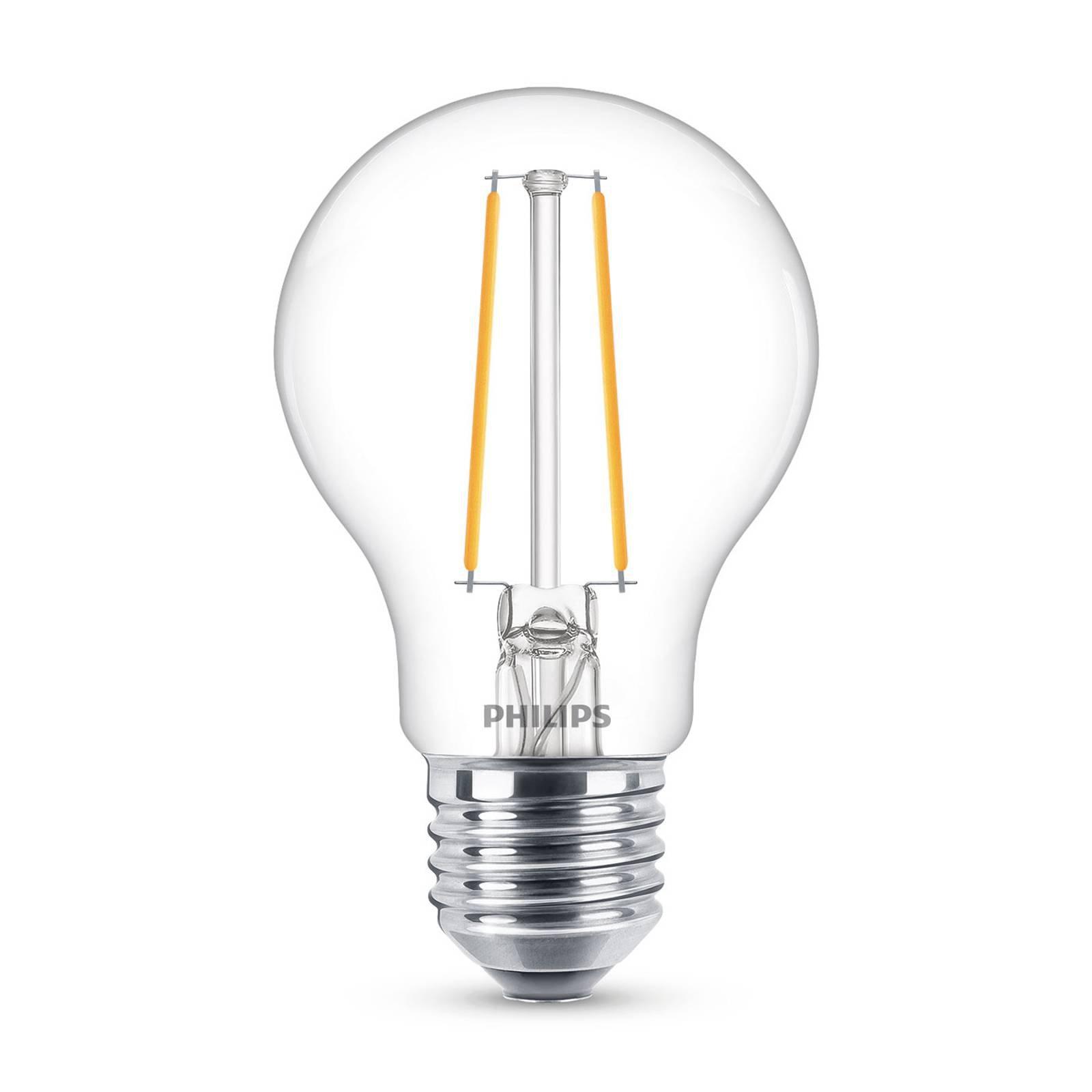 Philips Classic LED-pære E27 A60 1,5W 2 700 K klar
