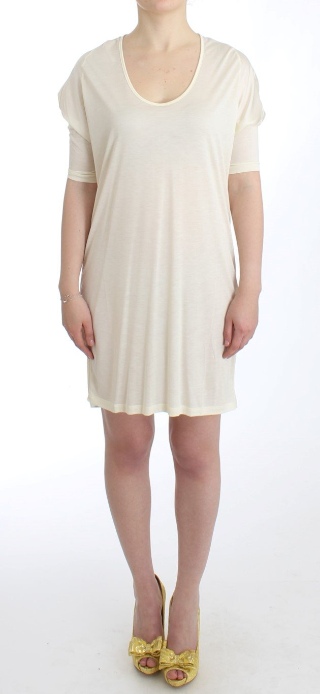 Costume National Women's modal tube Dress White SIG11649 - IT46|XL