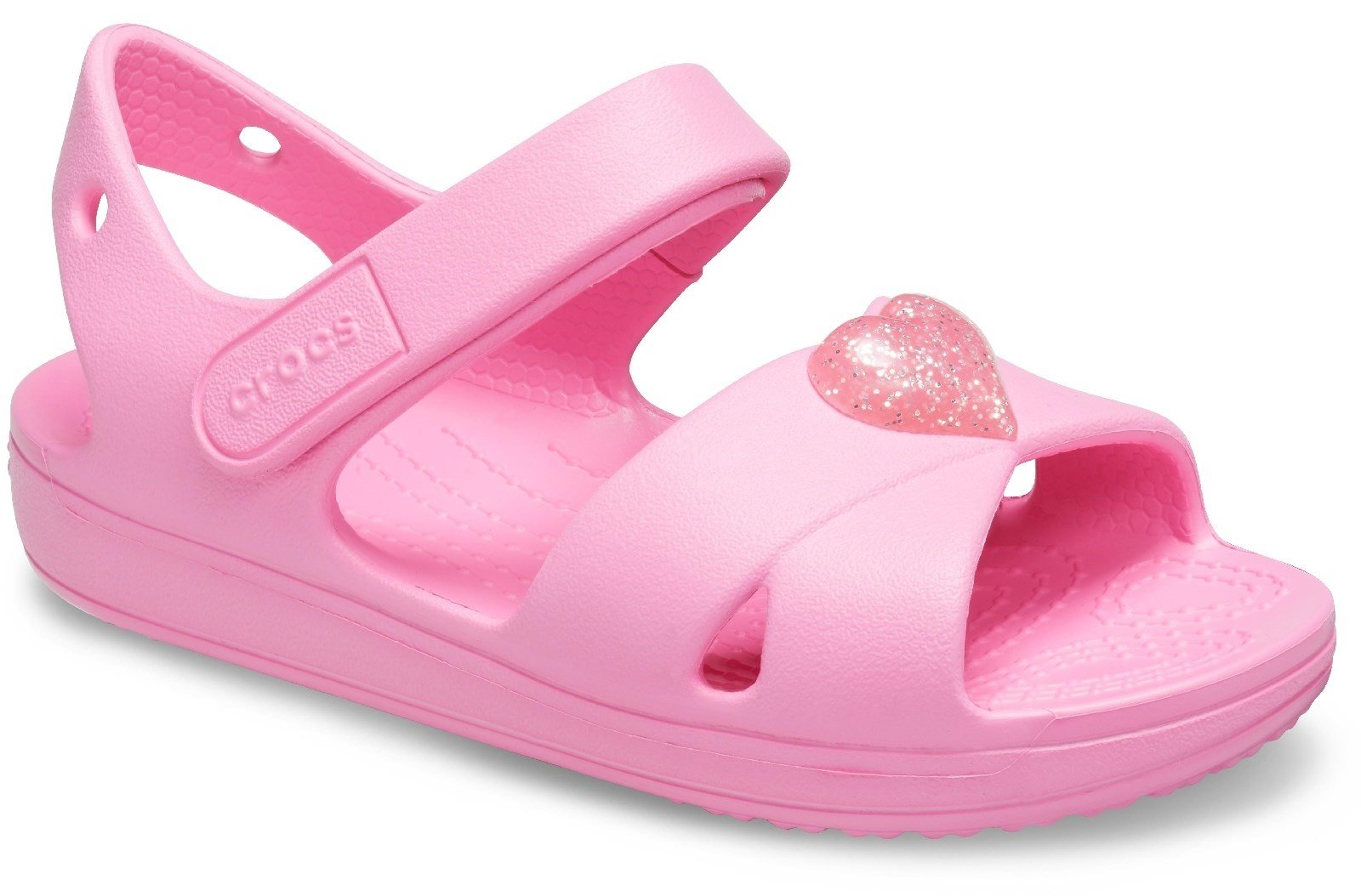 Crocs Kid's Cross Strap Sandal Pink Lemonade 30710 - Pink Lemonade 4