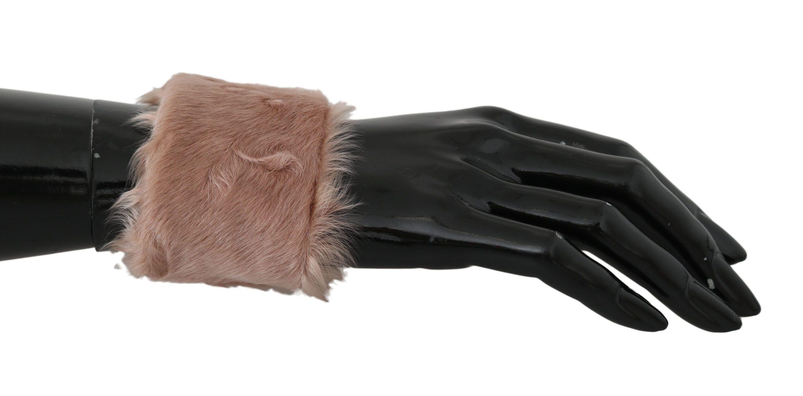 Dolce & Gabbana Women's Lamb Fur Bracelet Beige LB501