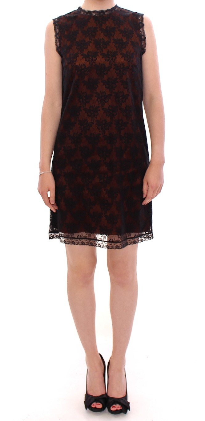 Dolce & Gabbana Women's floral Lace Shift Dress Orange MOM11208 - IT42 M