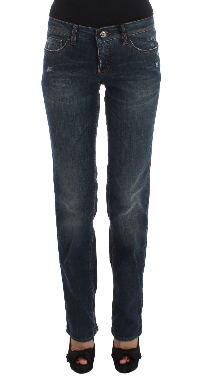 Costume National Women's Cotton Blend Bootcut Jeans Blue SIG30199 - W26