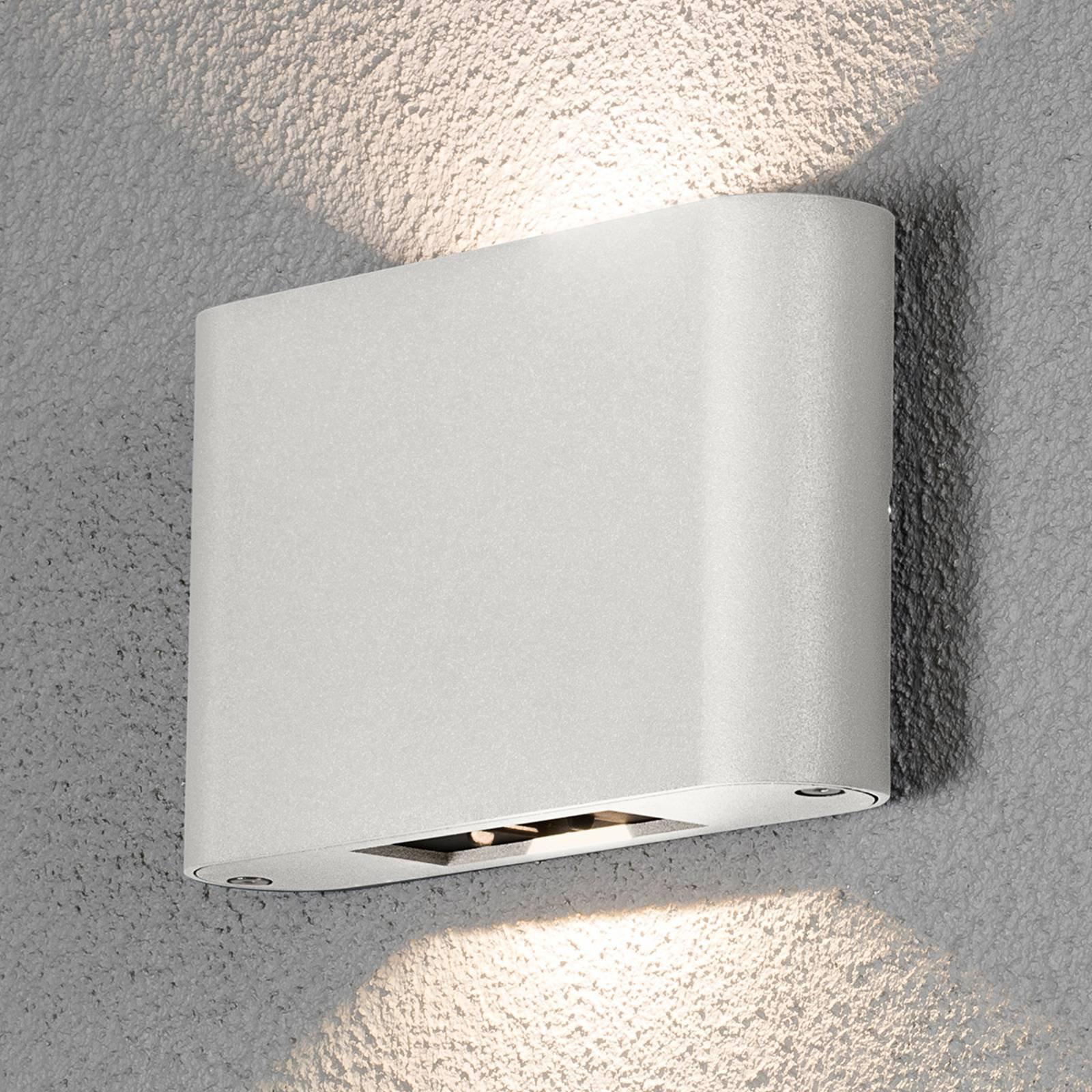Chieri utendørs LED-vegglampe 2-lk. 18 cm hvit