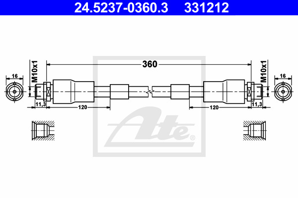 Jarruletku ATE 24.5237-0360.3