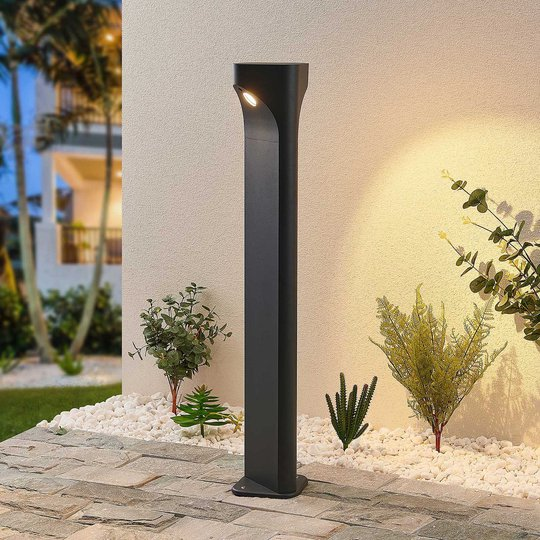 Lucande Valdeta -LED-pylväsvalaisin, korkeus 80 cm