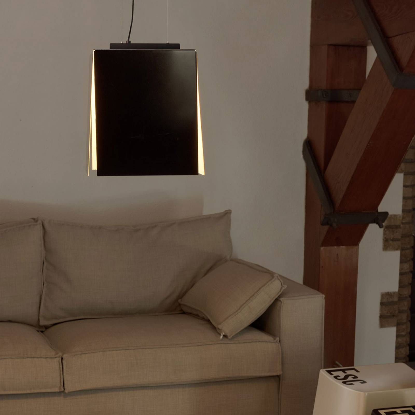 SLV Avento -LED-riippuvalaisin 30 musta/kulta