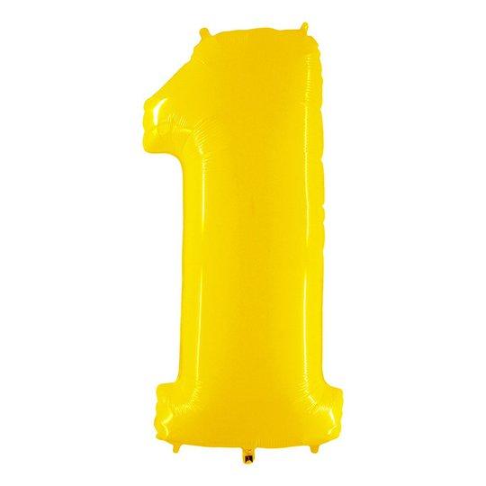 Sifferballong Neon Gul - Siffra 1