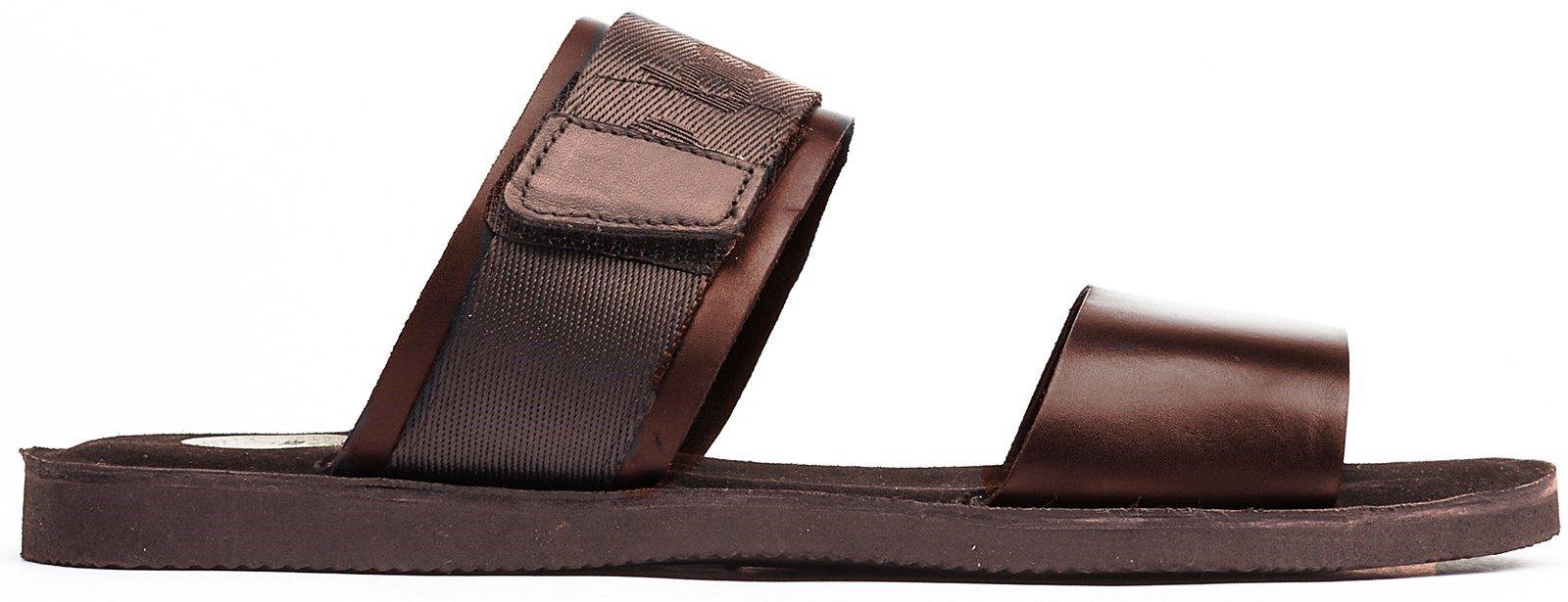Base London Men's Katsu Slip On Sandal Various Colours 32262 - Brown 7