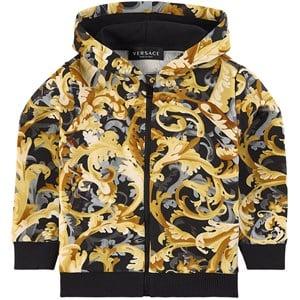 Versace Baroccoflage Full Huvtröja Guld 24 mån