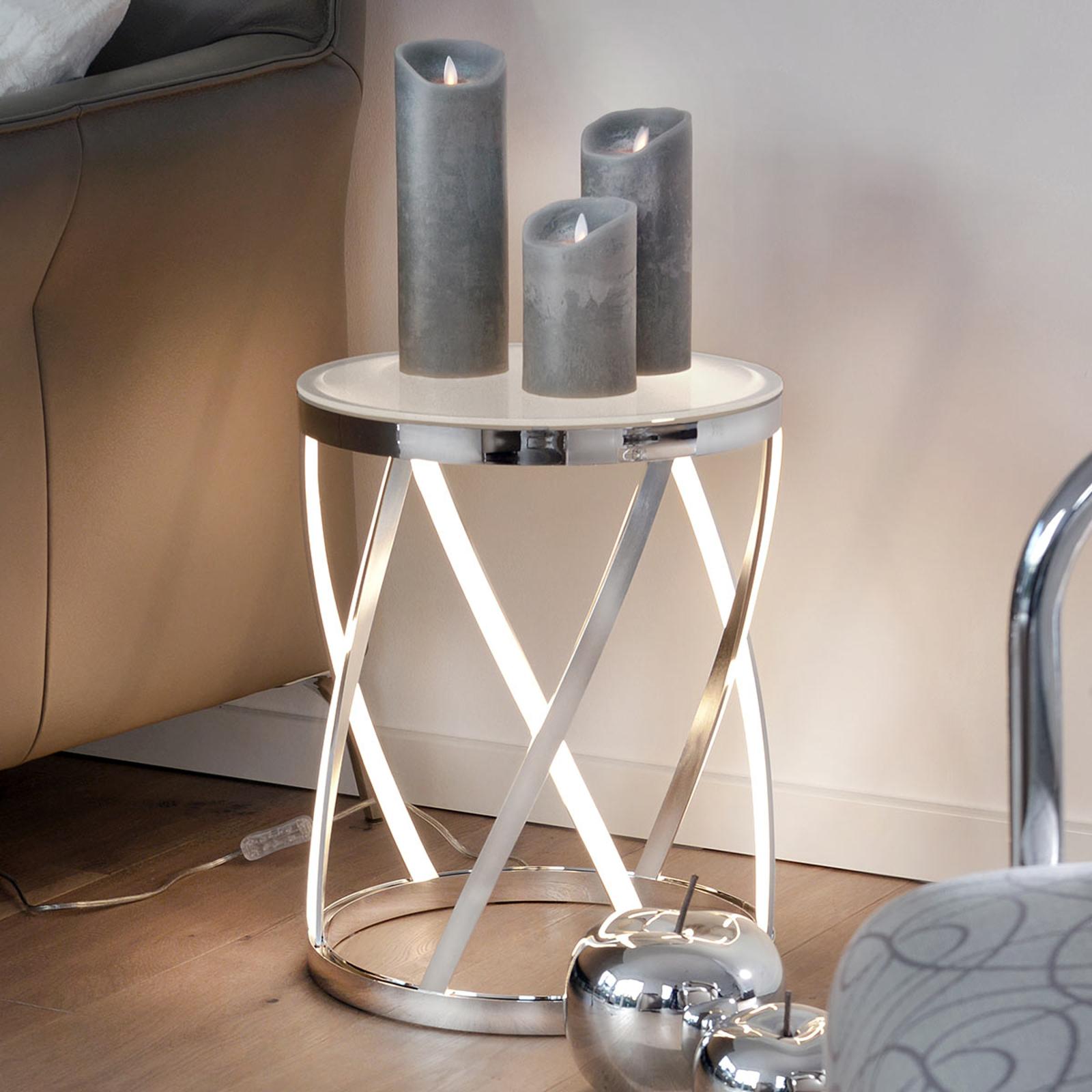 Rumpu - valaisin ja sivupöytä yhdessä