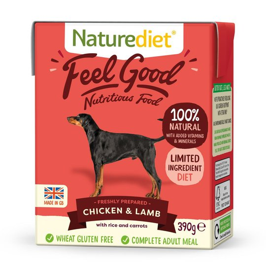 Naturediet Feel Good Kyckling & Lamm (390 g)