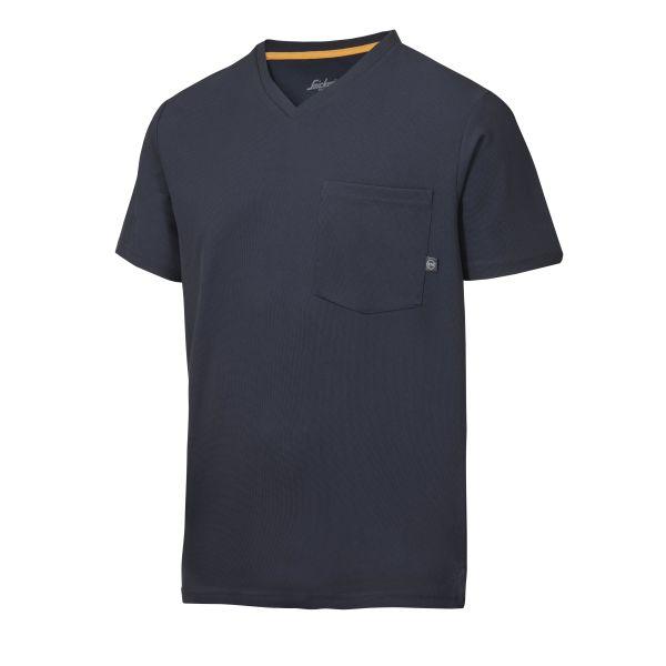 Snickers 2524 AllroundWork T-paita laivastonsininen, v-aukko XS
