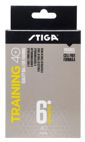 STIGA Baller Bordtennis Training ABS 6-pack, Oransje