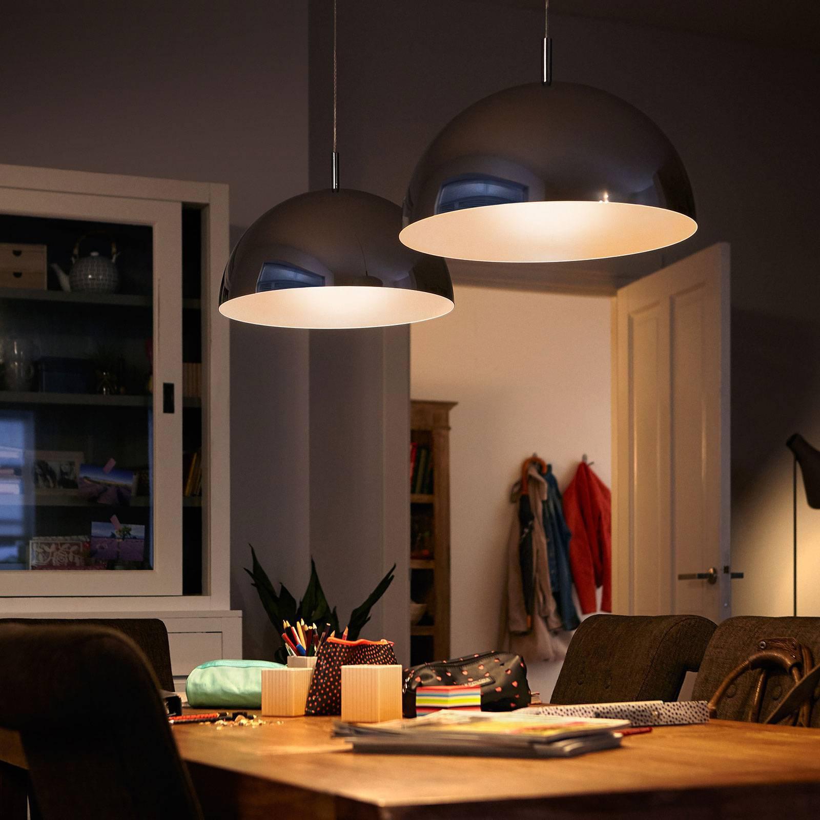 Philips LED-globepære E27 G120 7,2W toppforspeilet
