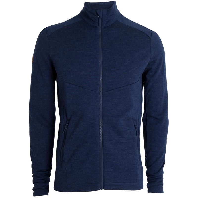 Tufte Wool Fleece Jacket S Dress Blues Melange -Ull/fleecejakke