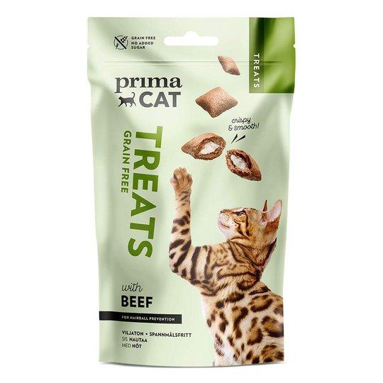 PrimaCat Crunchy Grain Free Beef Anti-hairball 40 g