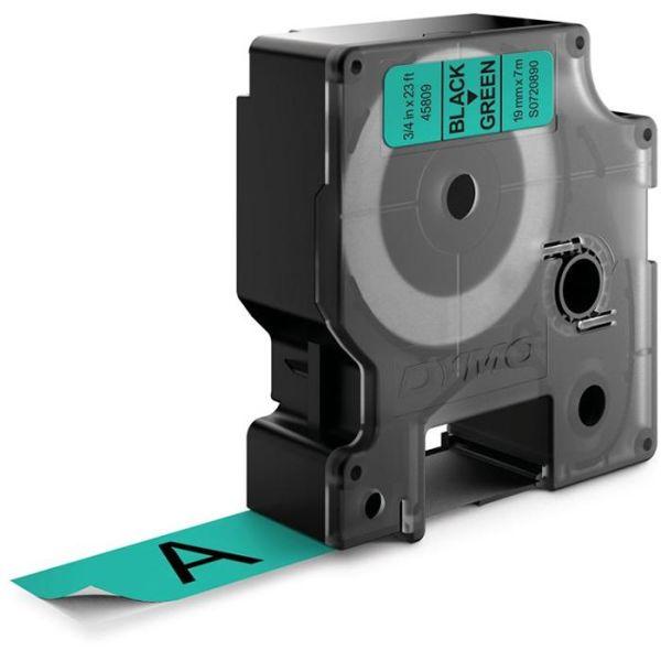DYMO Standard D1 Teip 19mm Svart på grønt