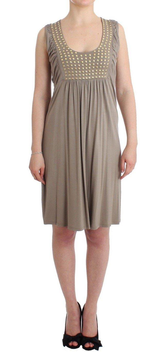 Roccobarocco Women's studded sheath Dress Beige SIG11588 - IT42|M